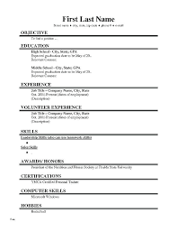 Basic Resume Examples Simple Template Nice Simple Resume Sample ...