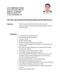 Best Solutions of Seafarer Resume Sample On Download Resume