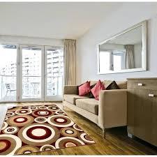 red circles rug