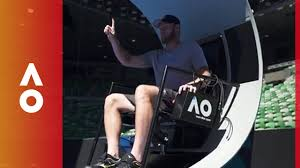 umpires chairs go high tech with sam groth australian open 2018