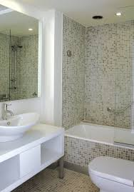 Comely Images Of Small Bathroom Interior Decoration For Your Inspiration :  Agreeable Modern White Small Bathroom