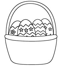 Small Picture Easter Basket Picture Coloring Page Batch Coloring