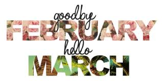 Image result for goodbye february hello march