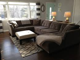permalink to beautiful how to place a rug under a sectional sofa