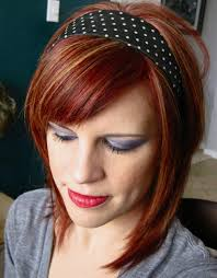 Auburn Hair With Caramel Highlights Band