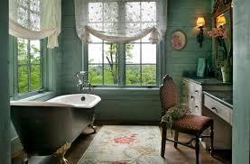 vintage bathroom with antique clawfoot bathtub