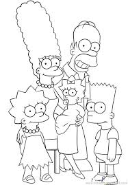 simpsons coloring pages bart simpsons coloring pages