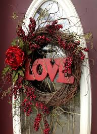 Valentines Day Wreath Door Decor..