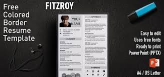 Powerpoint Resume Enchanting Fitzroy Border PowerPoint Resume Template