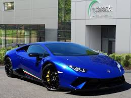 Used 2018 Lamborghini Huracan Performante Lp640 For Sale In Avon Pistonheads Blu Sideris Super Luxury Cars Lamborghini Huracan Sports Cars Lamborghini