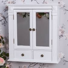 white wooden mesh wall cabinet shabby