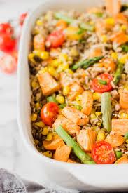 sweet potato and brown rice quinoa bake easy vegan meal idea