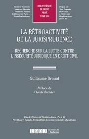 La rétroactivité de la jurisprudence - Drouot 9782275053530 | Lgdj.fr