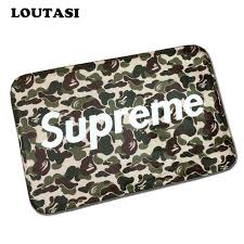 carpet letters. new fashion supreme letters to camouflage flannel carpet pad brand kitchen toilet mat rug water g