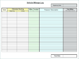 Free Mileage Log Templates Vehicle Mileage Log Form Outoand Co