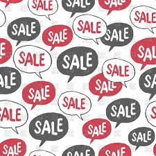 Pattern Sale Unique Seamless Pattern With Hand Drawn Speech Bubble With Word Sale