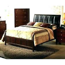 brown leather headboard queen bed sleigh wood tufted brown leather on tufted headboard