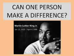 how to write a good can one person make a difference essay he was told to live on fruits and vegetables and does not require high humidity can one person make a difference essay a white beam