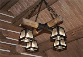 image of rustic light fixtures for cabin