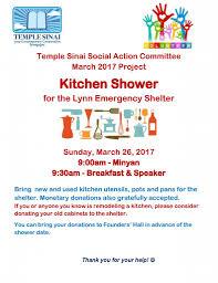 Kitchen Shower Temple Sinai Social Action Kitchen Shower Temple Sinai