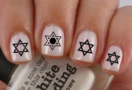 STAR of DAVID Nail Art SD1 WaterSlide Transfers Decals