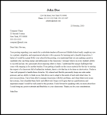 Teacher Cover Letters Photo Gallery For Website Cover Letter For