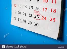 Calendar With Reminder About Black Friday 23 November 2018