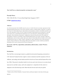 the cold war as a historical period an interpretive essay pdf  the cold war as a historical period an interpretive essay pdf available