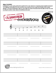 Test your knowledge on this music quiz and compare your score to others. Codemaker Music Theory Worksheet Treble Clef Note Names