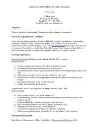Cashier Resume Sample Responsibilities Job And Resume Template