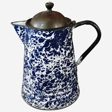 For the price, i'd say that's all you could expect. Cobalt Blue Vintage Graniteware Coffee Pot Bread Butter Antiques Llc Ruby Lane