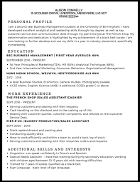 Marketing Student Resume Sample Top Templates First Job For