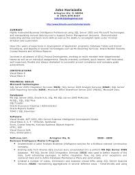 Bi Developer Resume 4 Sql Resumes Resume CV Cover Letter