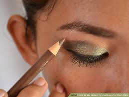 image led do green eye makeup for dark skin step 14
