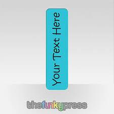 Design Bookmarks Details About Aluminium Your Text Design Personalised Custom Bookmark