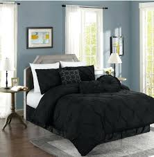 black and white duvet covers double chezmoi collection pinched pintuck pleated comforter set cal king black black and white damask