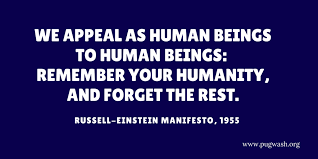 Image result for 1955–The Russell–Einstein Manifesto