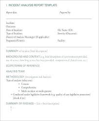 Critical Post Incident Report Template Executive Summary