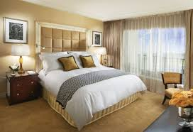Neutral Paint Colors For Bedrooms Varnished Teak Wood Platform Bed And Neutral Bedroom Scheme Color