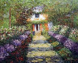 a pathway in monet s garden at giverny