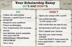 why i should receive a scholarship essay examples  why i should receive a scholarship essay examples 13 dosdontsscholes