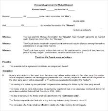 prenup samples 10 prenuptial agreement templates free word pdf format download