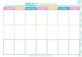 Weekly Timetable Planner Weekly Schedule Printable Weekly Timetable Planner