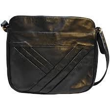 leather large shoulder bag purse diagonal pleats to expand