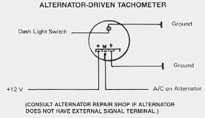 vdo performance instruments alternator driven tachometer