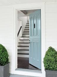 white front door inside. Front Door Color: Benjamin Moore Color Trends 2014 - Door: Breath Of Fresh Air 806 Grand Entrance High-Gloss, Exterior Wall White Inside T