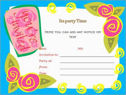 Word Template For Invitation Great Birthday Party Invitation Templates Word Picture