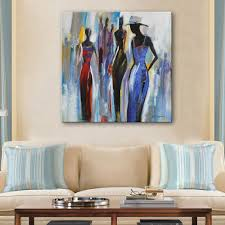 room wall painting shipping free shipping hand painting oil painting abstract fashion woman decora