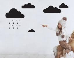 rain clouds decal nice cloud wall decals