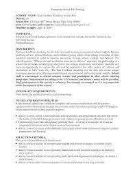 Paraprofessional Job Description For Resume Fascinating Special